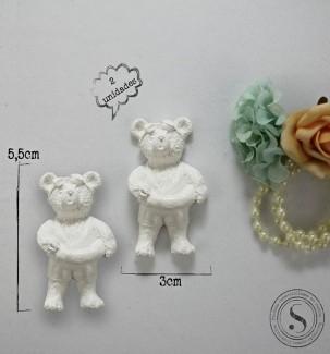 Aplique Resina Ursos - UR013 - Sandra Gotardo