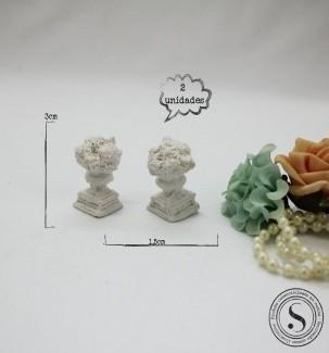 Aplique Resina Vaso de Plantas - FO 004 - Sandra Gotardo