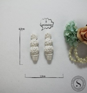 Aplique Resina Vaso Plantas  - FO 002 - Sandra Gotardo