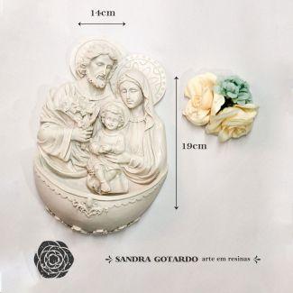 Aplique sagrada familia GG 19x14x6 resina ES 039