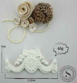 Aplique Arabesco 11,5x6x1 - resina  ARA 006