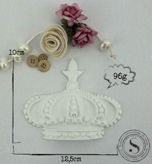 Aplique Coroa Princesa (10x12,5) SGResinas Ref CO004