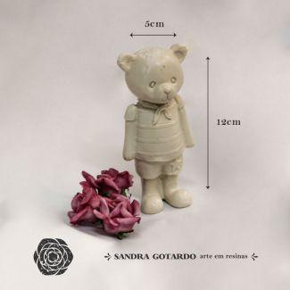 Urso resina 3d  família Papai 12x5x3 - resina UR 023
