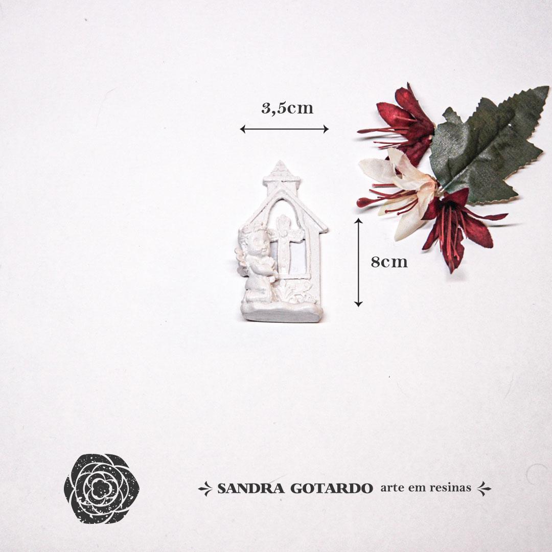 Aplique Resina Anjos - AS029 - Sandra Gotardo