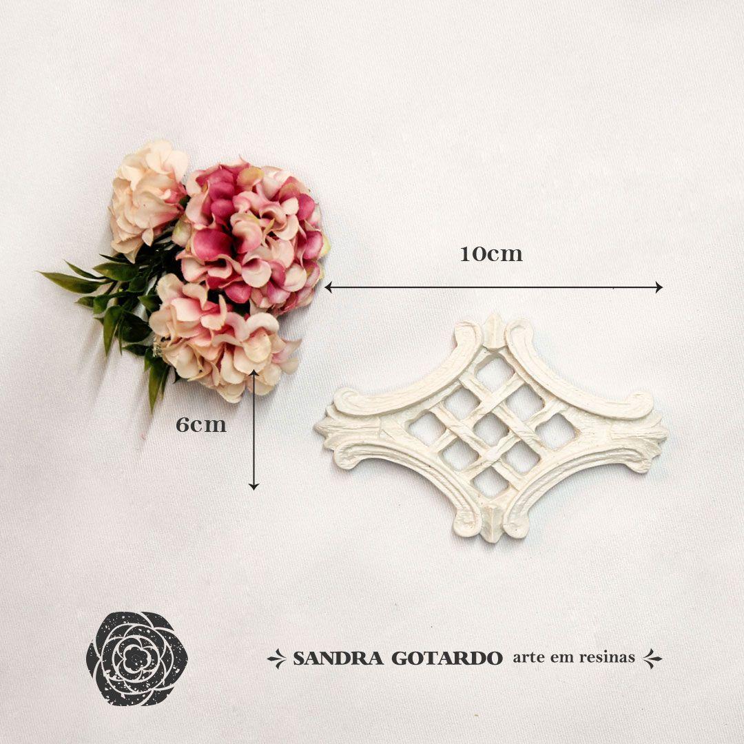Aplique Resina Aplique arabesco colonial 6x10x1 - resina ARA 021 - Sandra Gotardo