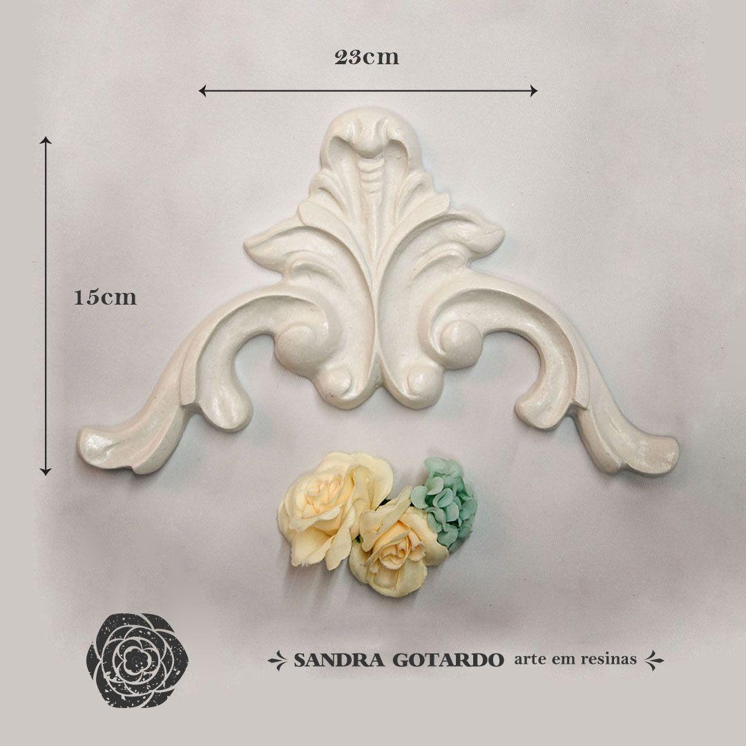 Aplique Resina Aplique arabesco Imperial 15x23x2 - resina  ARA 020 - Sandra Gotardo