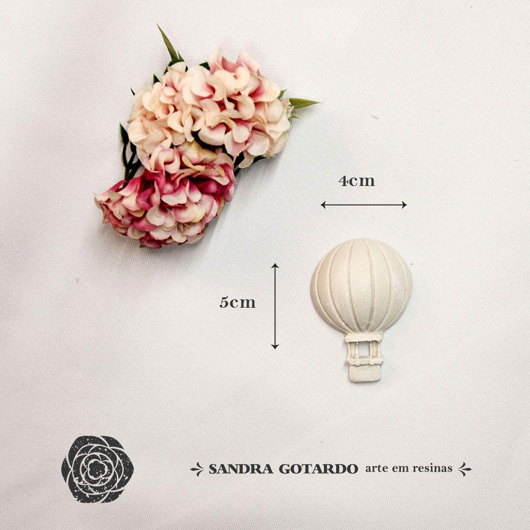 Aplique Resina Aplique balão gás pequeno 5x4x1 - resina AI 042 - Sandra Gotardo