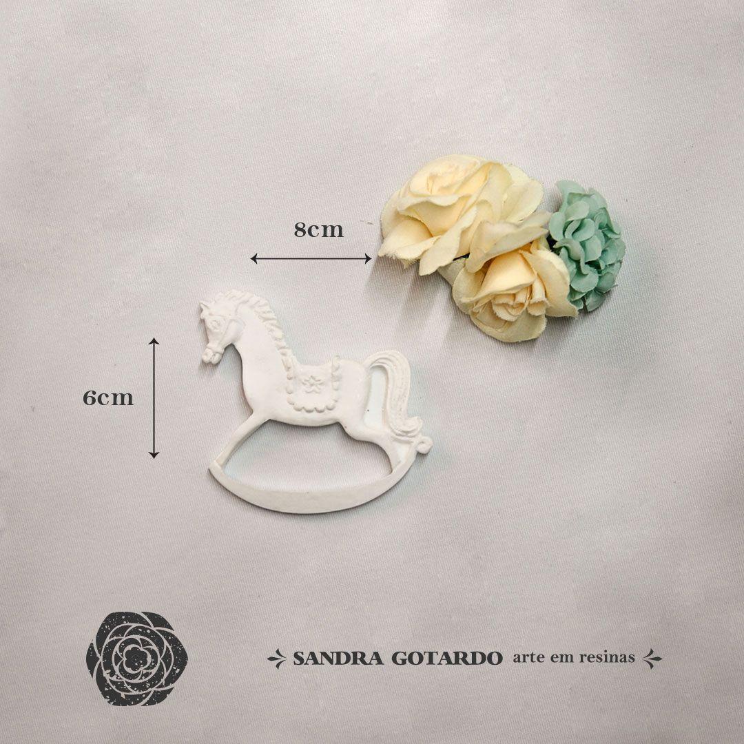 Aplique Resina Aplique Cavalo P  - resina CV005 - Sandra Gotardo