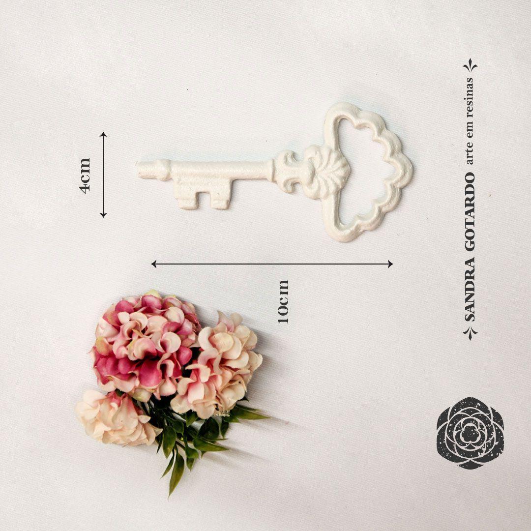 Aplique Resina Aplique chave colonial 11x5,5x1 - resina CHA 002 - Sandra Gotardo