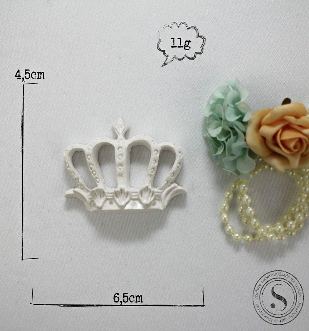 Aplique Resina Aplique Coroa Princesa Pequena (4,5x5,5) SGResinas Ref: CVA005 - Sandra Gotardo