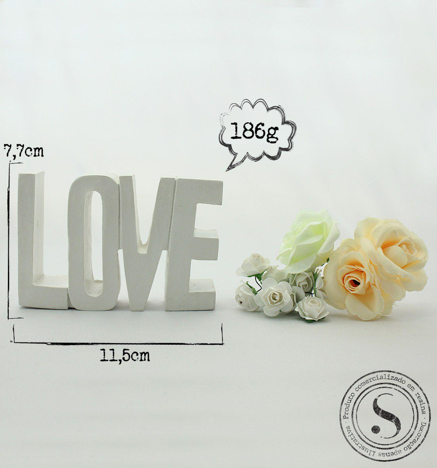 Aplique Resina Aplique Love Grande 11,5x7x2- resina   DLV 001 - Sandra Gotardo
