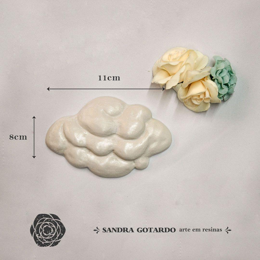 Aplique Resina Aplique nuvem 8x11x1 - resina AI 046 - Sandra Gotardo