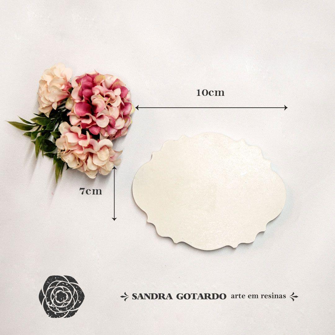 Aplique Resina Aplique placa para nome 7x10x1 - resina  AI 047 - Sandra Gotardo