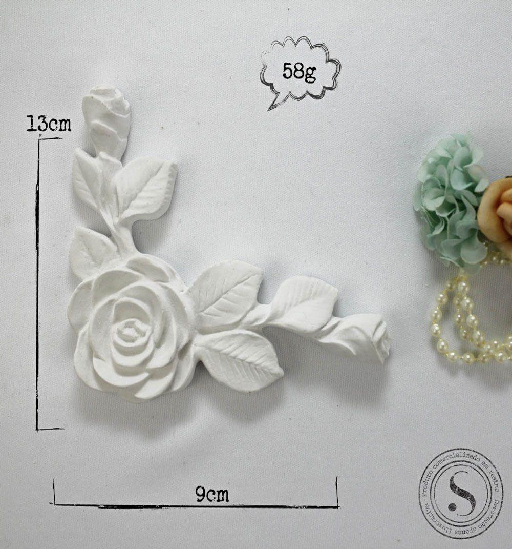 Aplique Resina Arabesco Floral - AF 009 - Sandra Gotardo