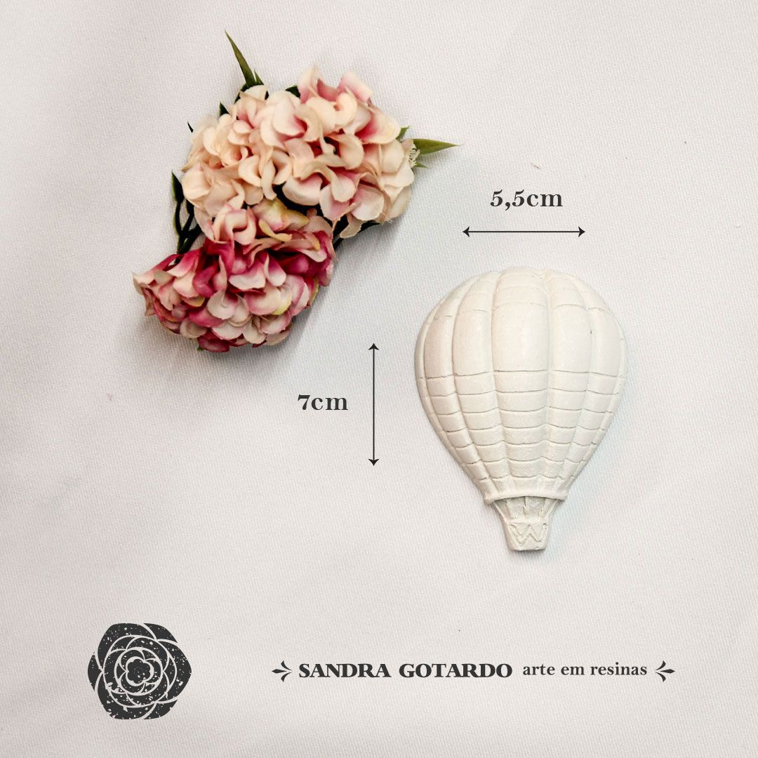 Aplique Resina Balão Gás Médio  -  AI041 - Sandra Gotardo