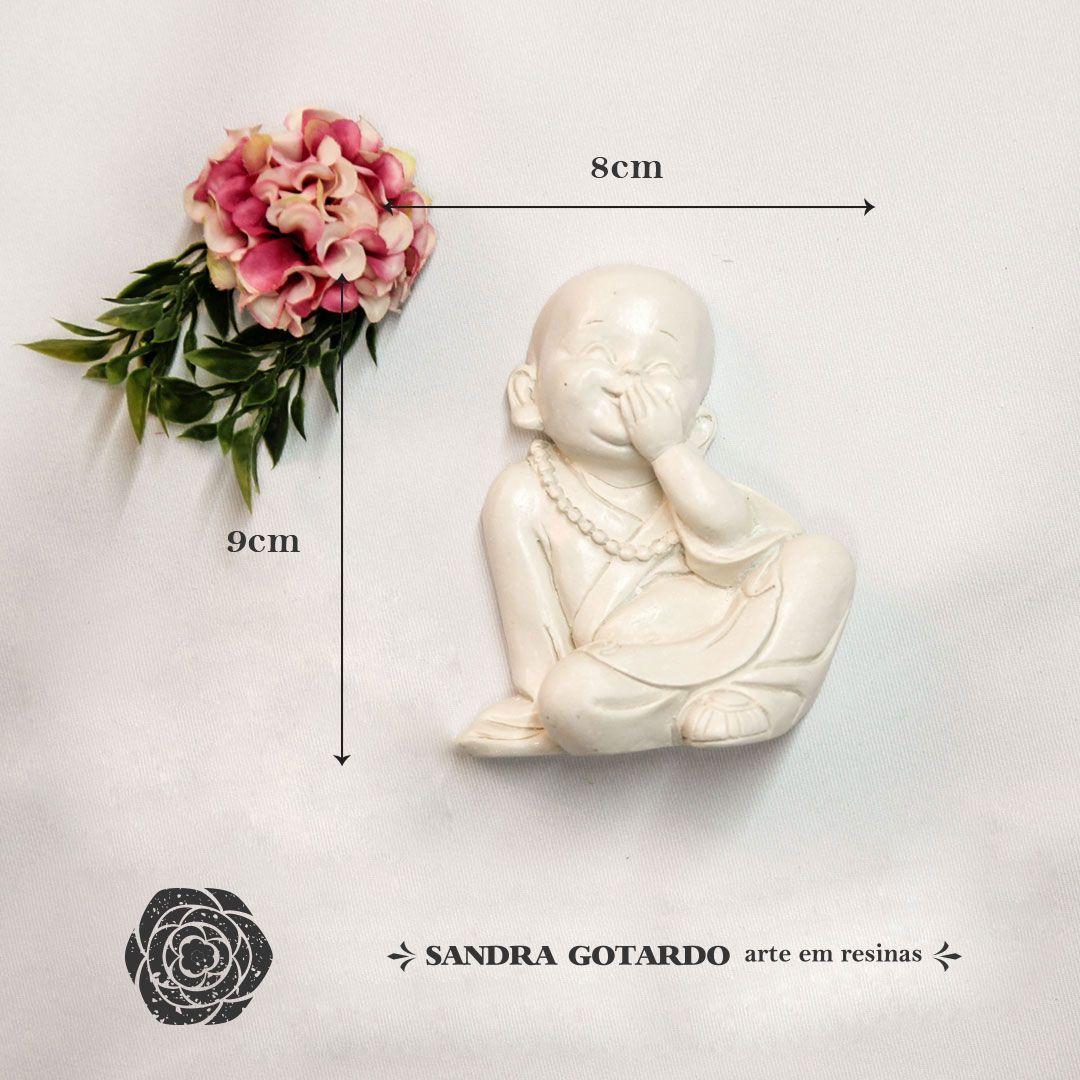 Aplique Resina  Buda Sentado  -  DC014 - Sandra Gotardo