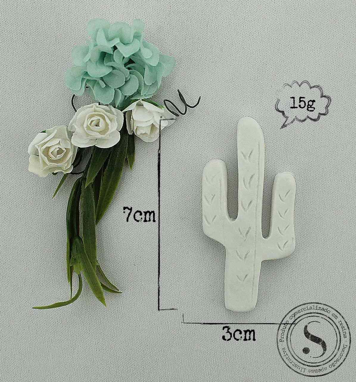 Aplique Resina Cactus  - FO013 - Sandra Gotardo