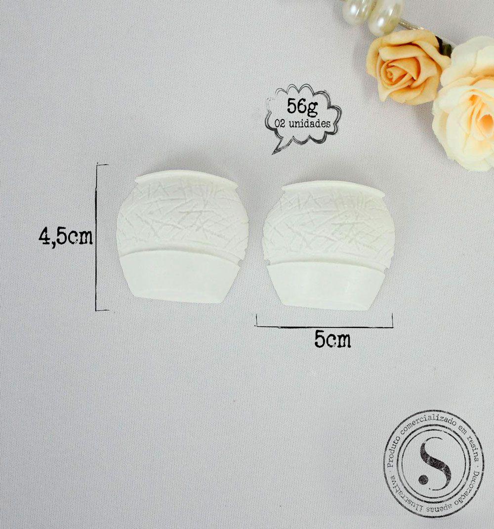 Aplique Resina Conjunto de Vasos - BP007 - Sandra Gotardo