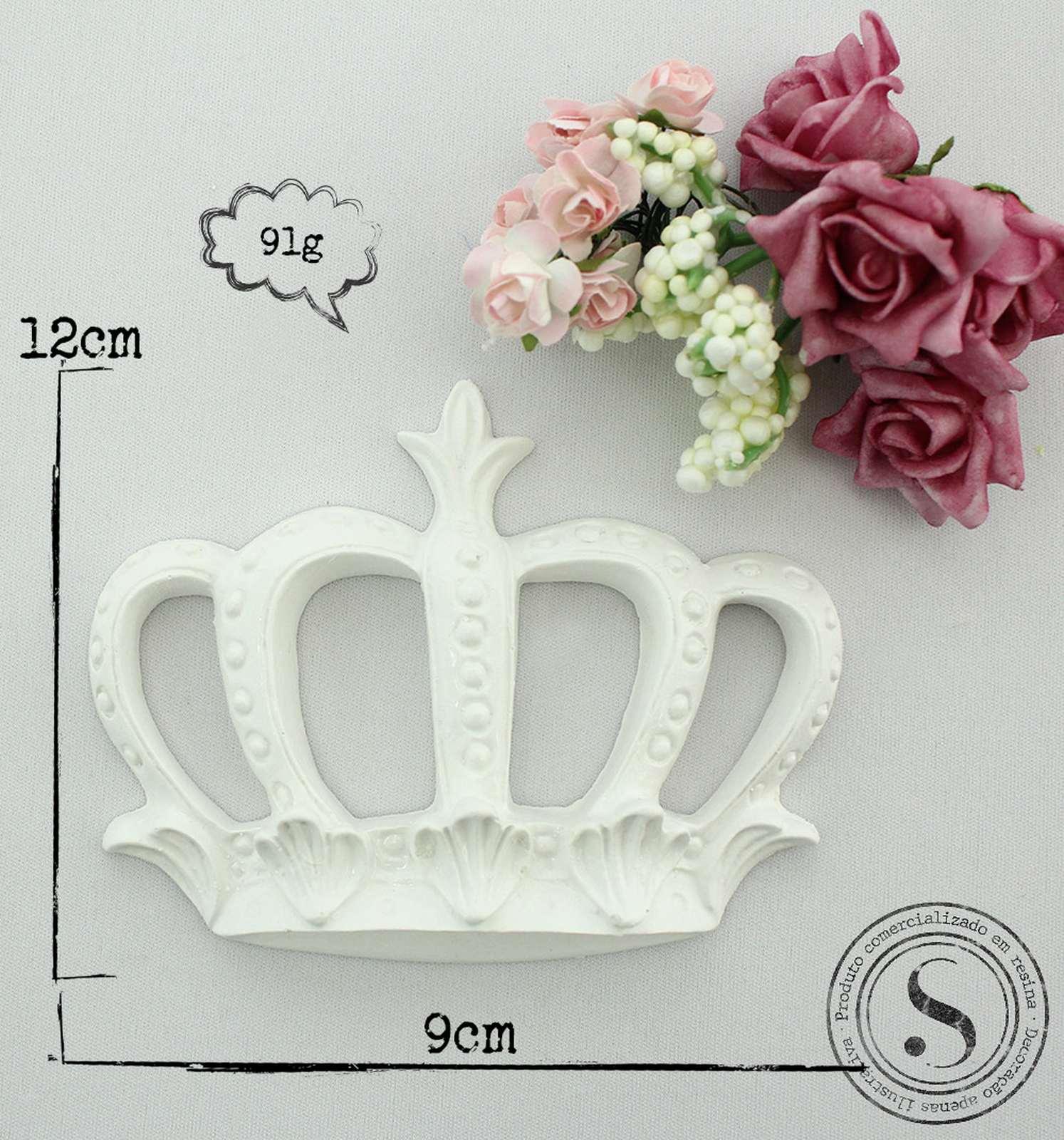 Aplique Resina Coroa Princesa Grande  - CVA001 - Sandra Gotardo