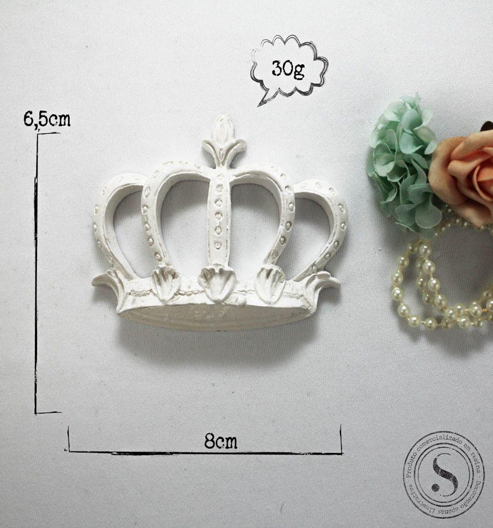 Aplique Resina Coroa Princesa Média  -CVA006 - Sandra Gotardo