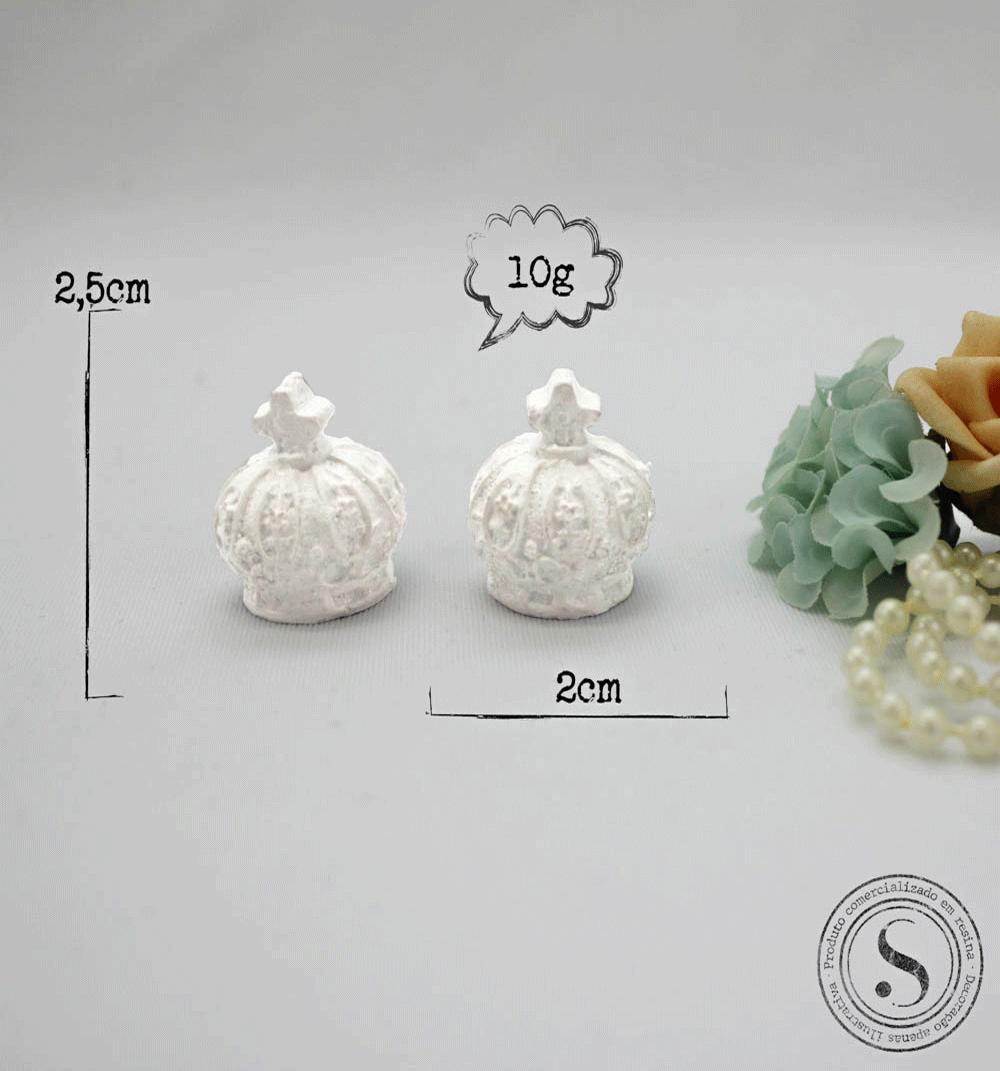 Aplique Resina Duas Coroas 3D - CO006 - Sandra Gotardo