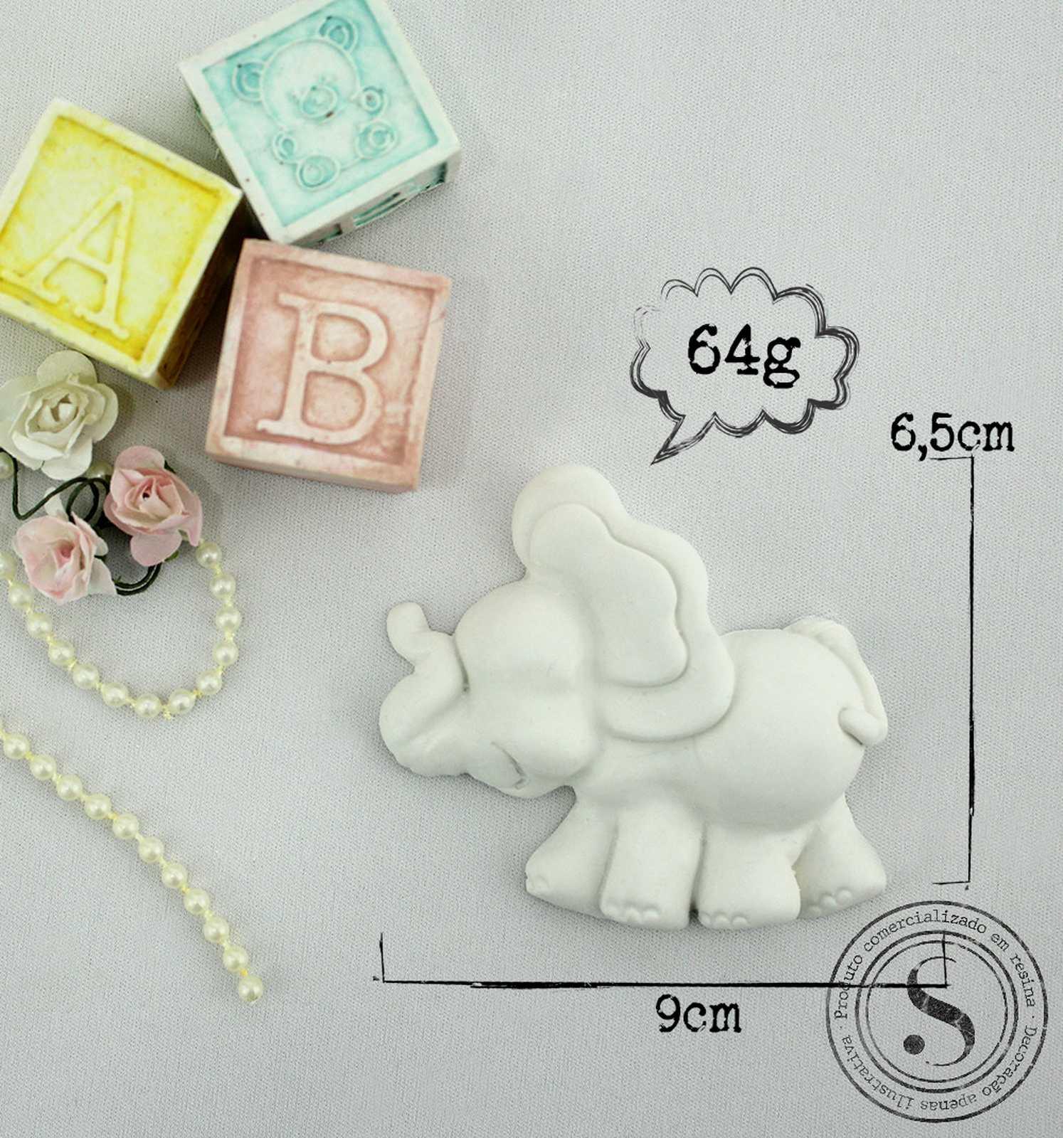 Aplique Resina Elefante - BC 008 - Sandra Gotardo