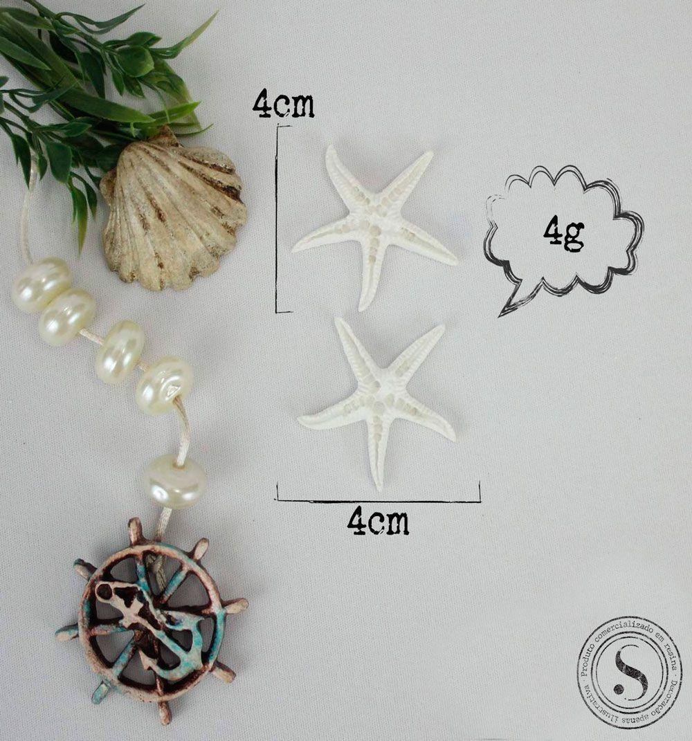 Aplique Resina Estrelas do Mar - EST002 - Sandra Gotardo
