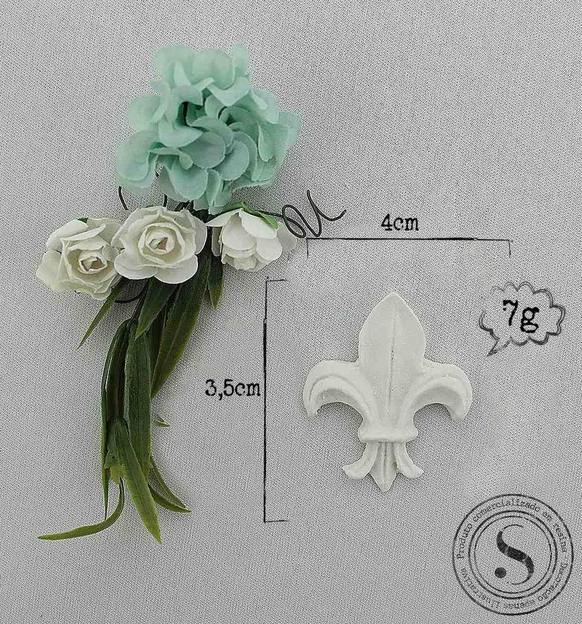 Aplique Resina Flor de Lis - FL003 - Sandra Gotardo
