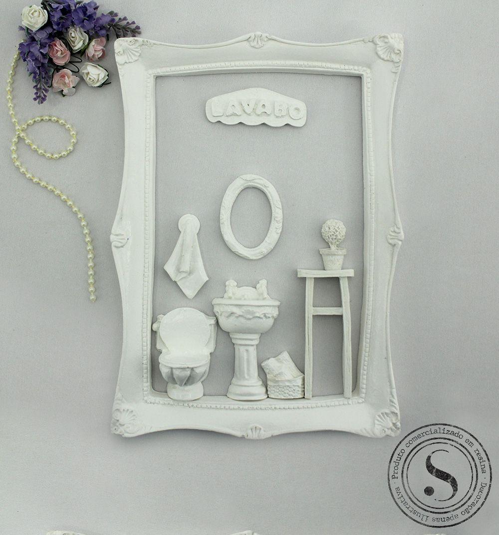 Aplique Resina Kit Banheiro Lavabo  - KH 002 - Sandra Gotardo
