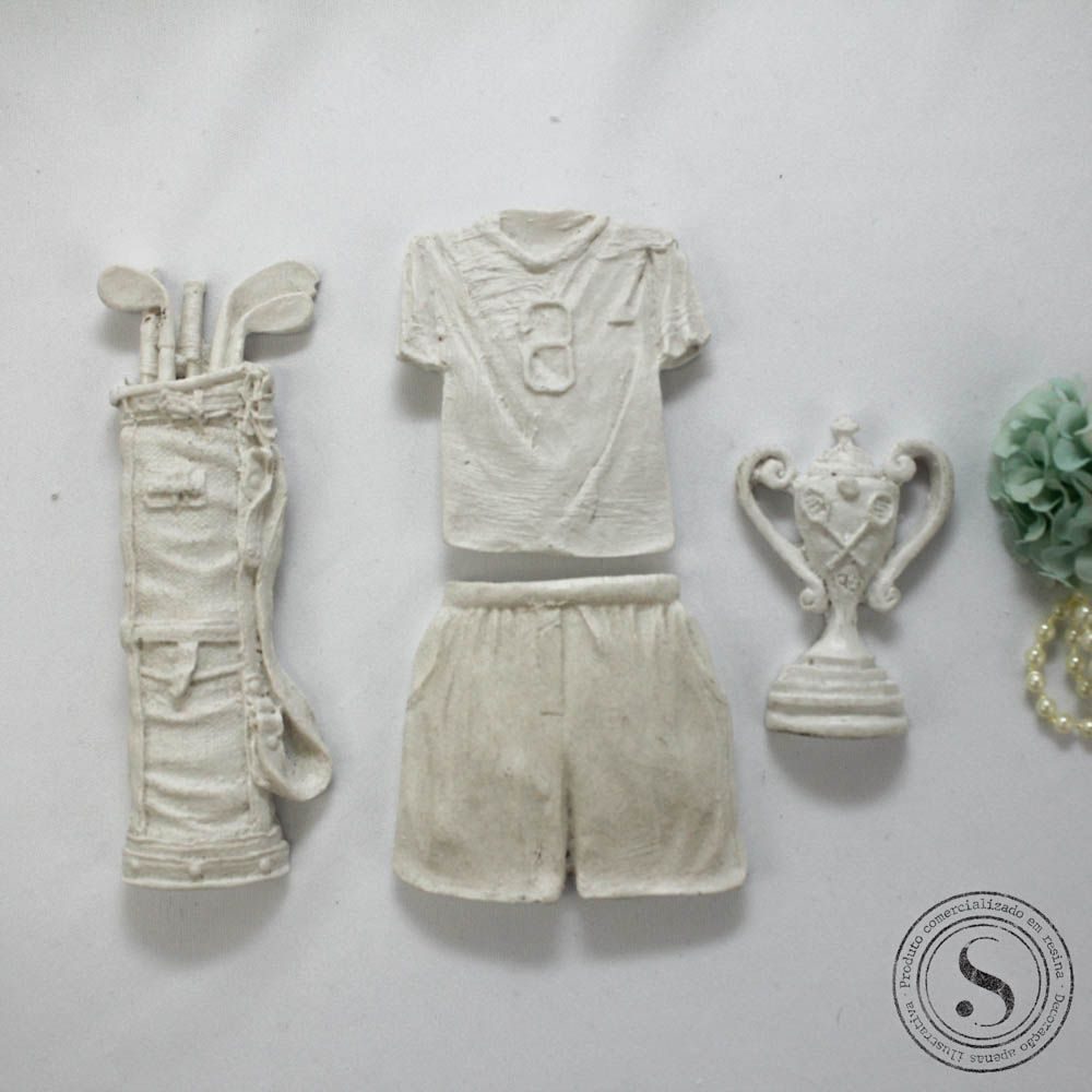 Aplique Resina Kit Esportivo - BP 027 - Sandra Gotardo