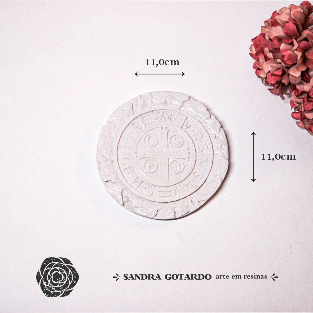 Aplique Resina Medalha de Sao Bento-ES051-Sandra Gotardo