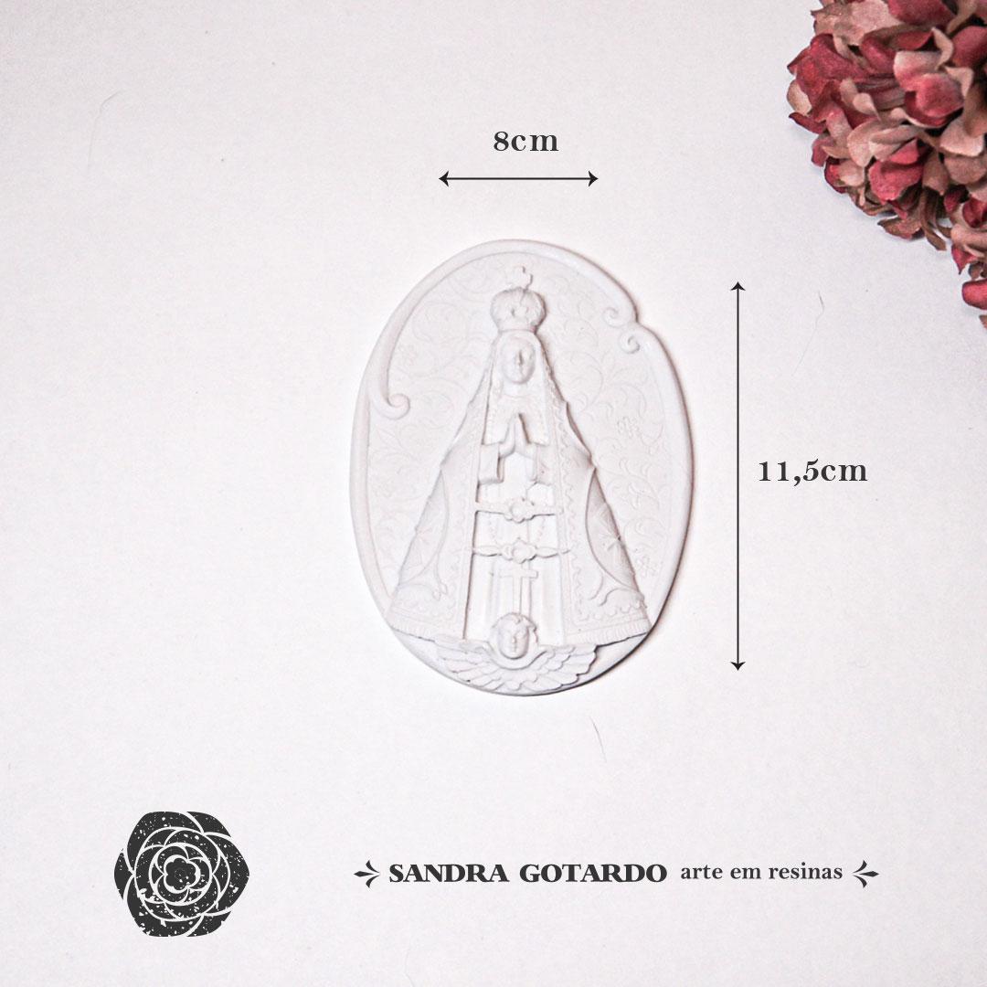 Aplique Resina Medalha Nossa Senhora -ES057 - Sandra Gotardo