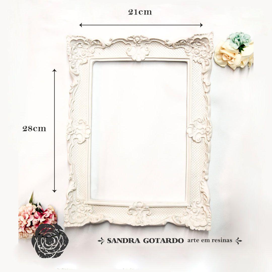 Aplique Resina Moldura M quadrada - MQM 018 - Sandra Gotardo