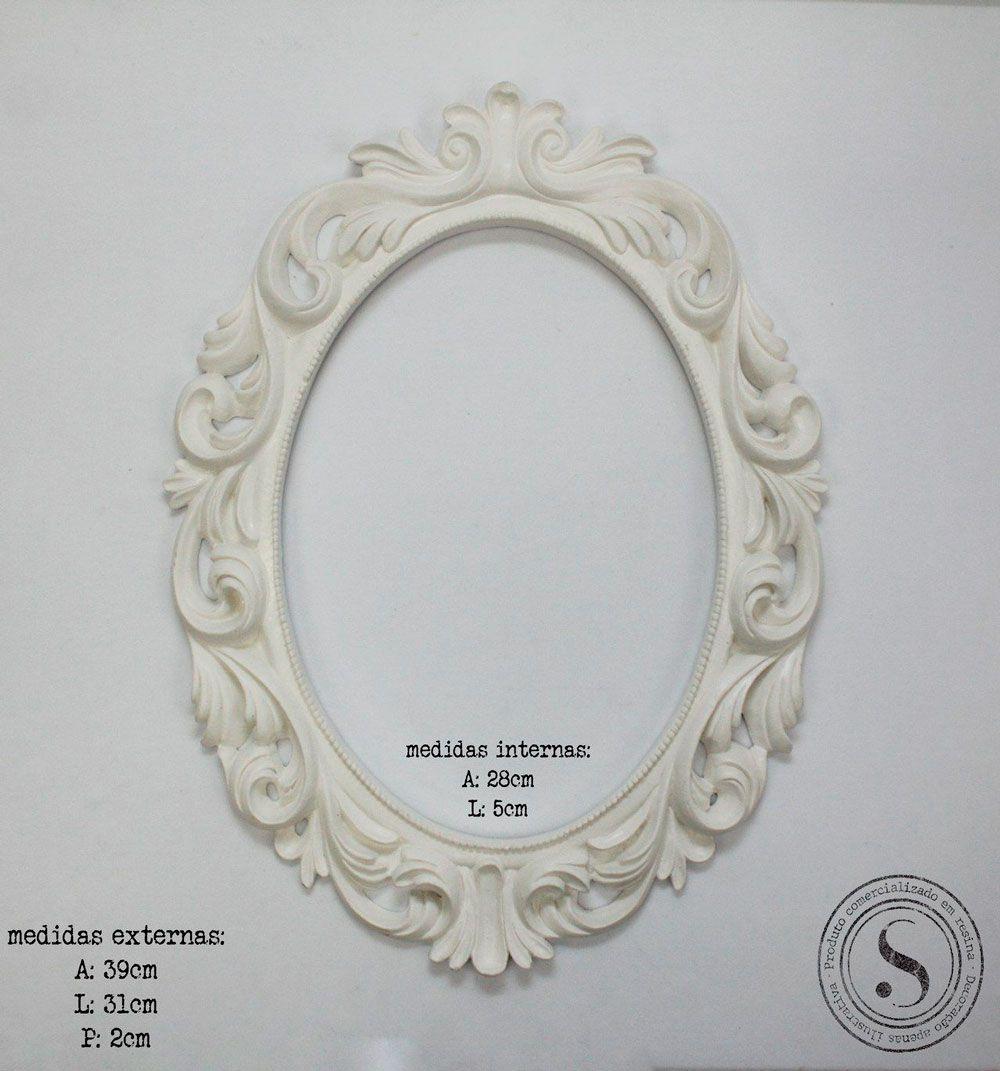 Aplique Resina Moldura Oval - MOG001 - Sandra Gotardo