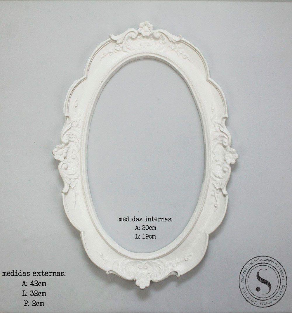 Aplique Resina Moldura Oval -  MOG003 - Sandra Gotardo