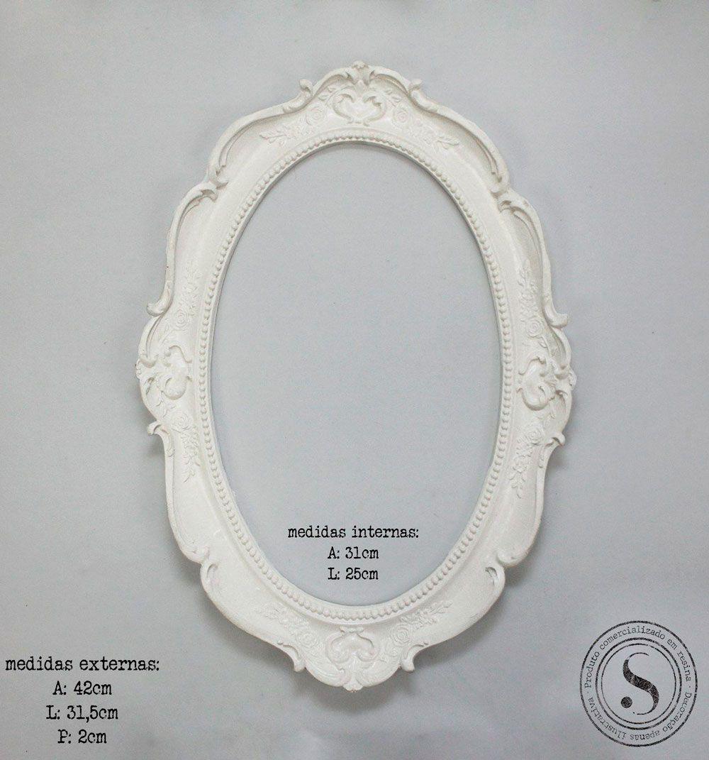 Aplique Resina Moldura Oval - MOG 002 - Sandra Gotardo