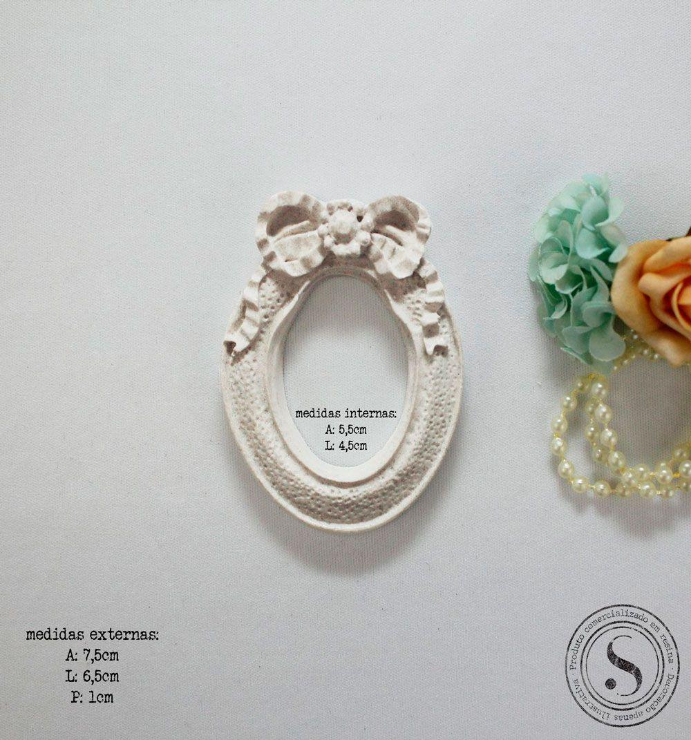 Aplique Resina Moldura Oval - MOP015 - Sandra Gotardo