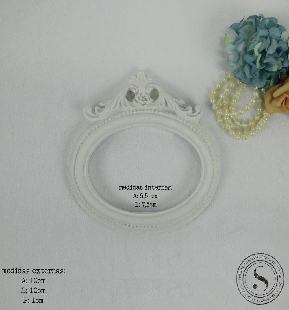 Aplique Resina Moldura Oval - MOP020 - Sandra Gotardo