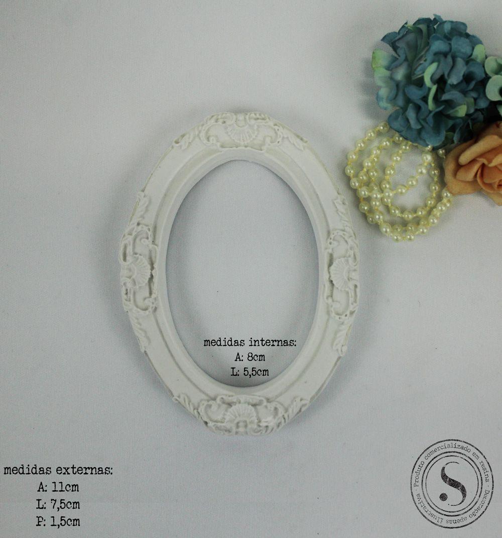 Aplique Resina Moldura Oval - MOP021 - Sandra Gotardo