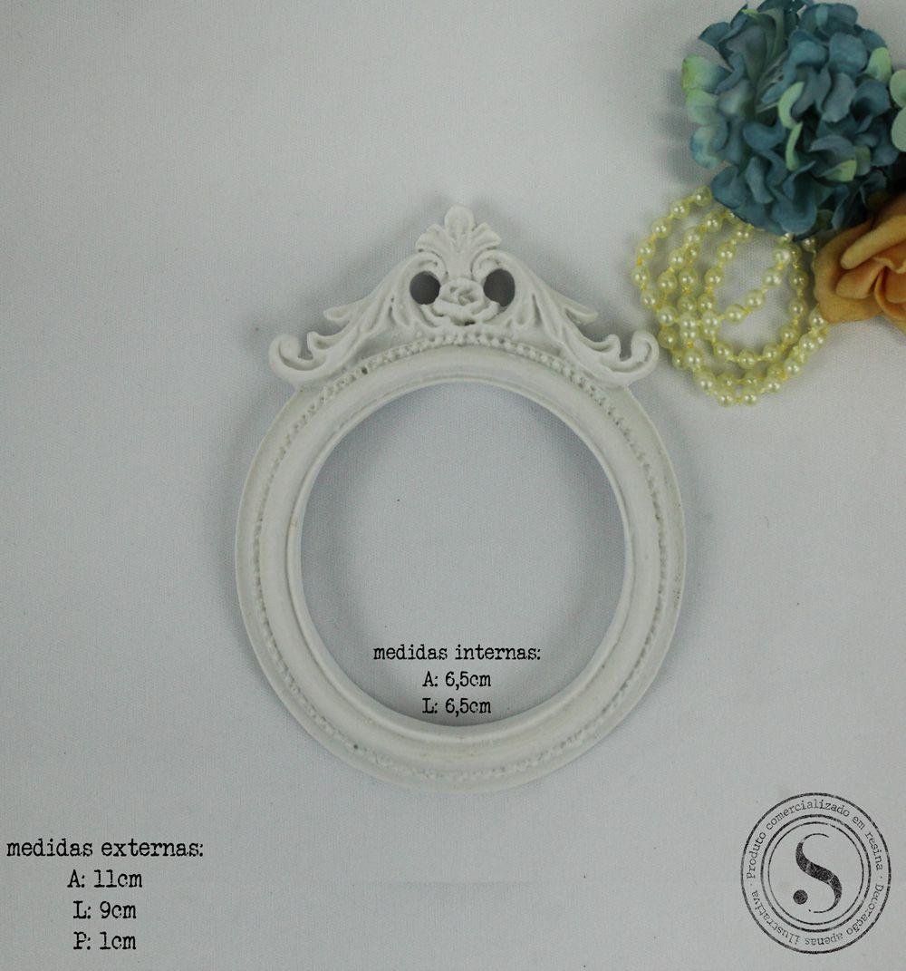 Aplique Resina Moldura Oval - MOP023 - Sandra Gotardo