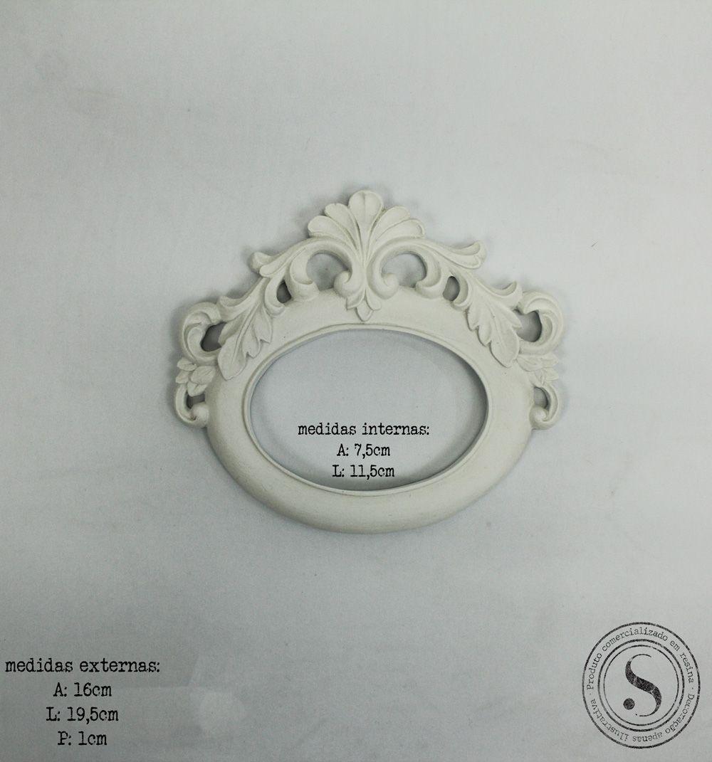 Aplique Resina Moldura Oval - MOP026 - Sandra Gotardo