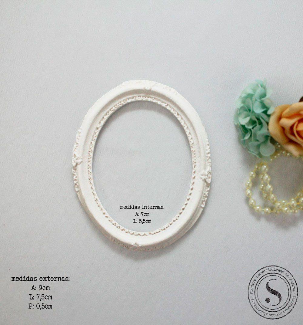 Aplique Resina Moldura Oval - MOP 012 - Sandra Gotardo