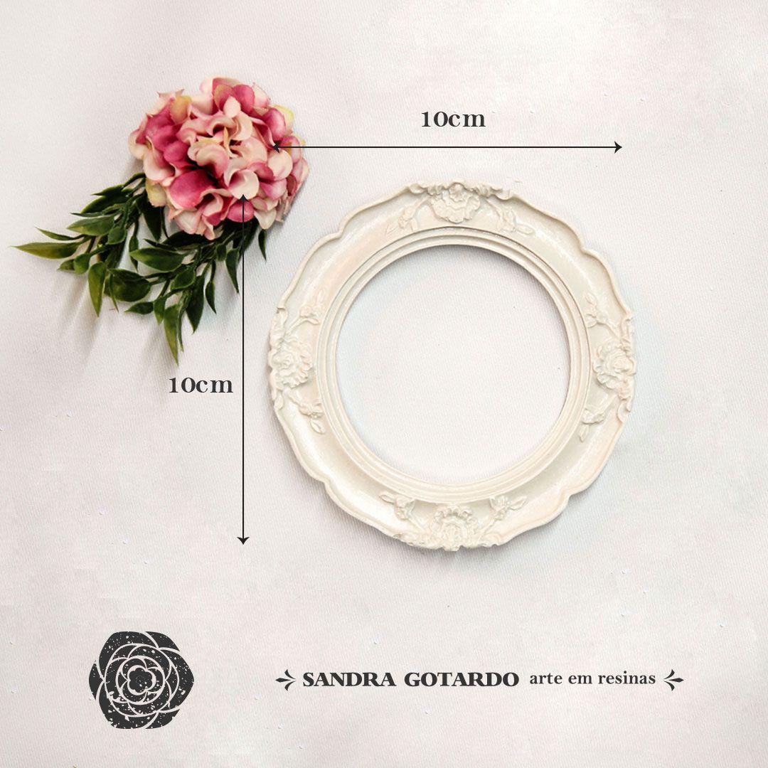 Aplique Resina Moldura oval PP 10x10x1,5 - resina MOp 027 - Sandra Gotardo