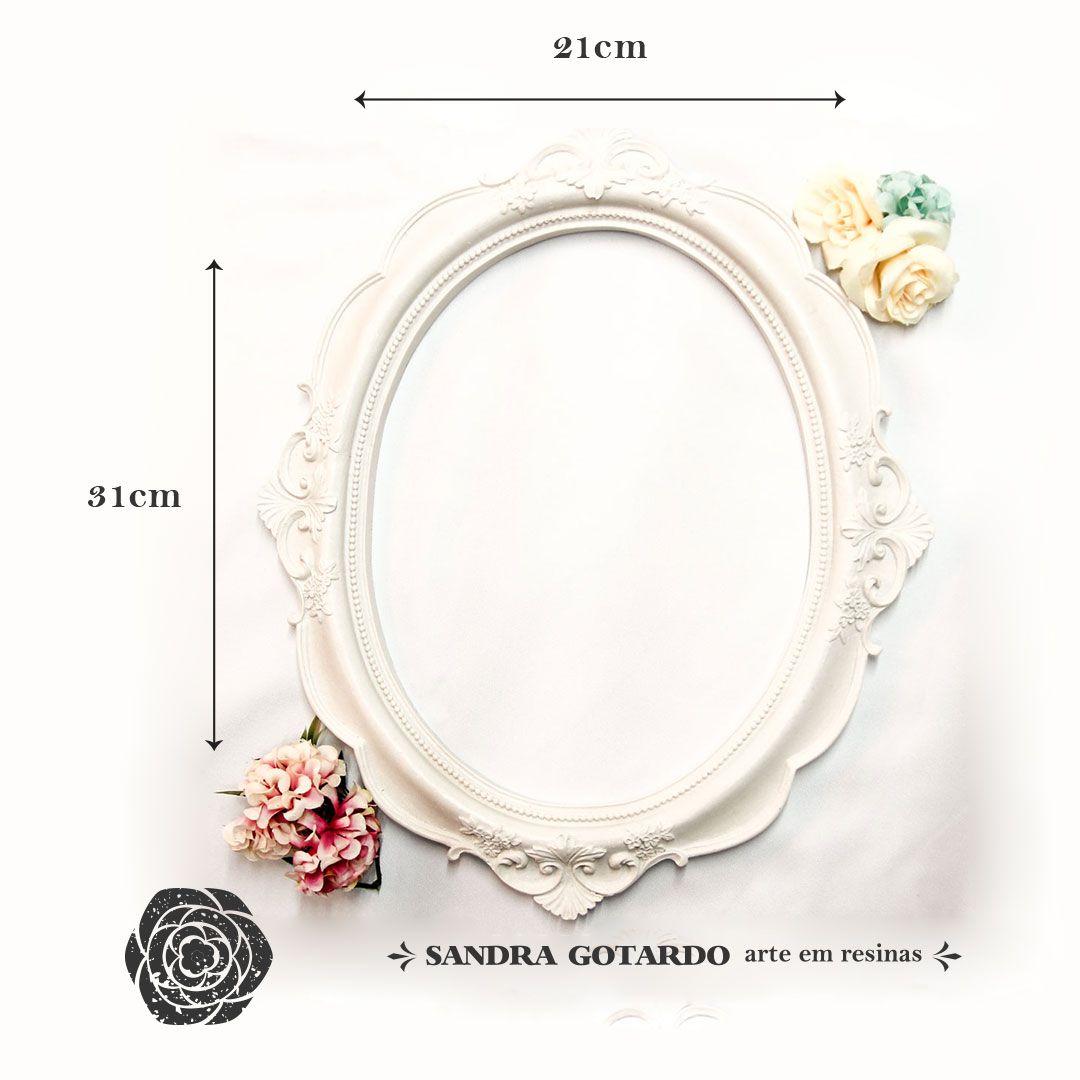 Aplique Resina Moldura oval Real M 3 -MOM015 - Sandra Gotardo