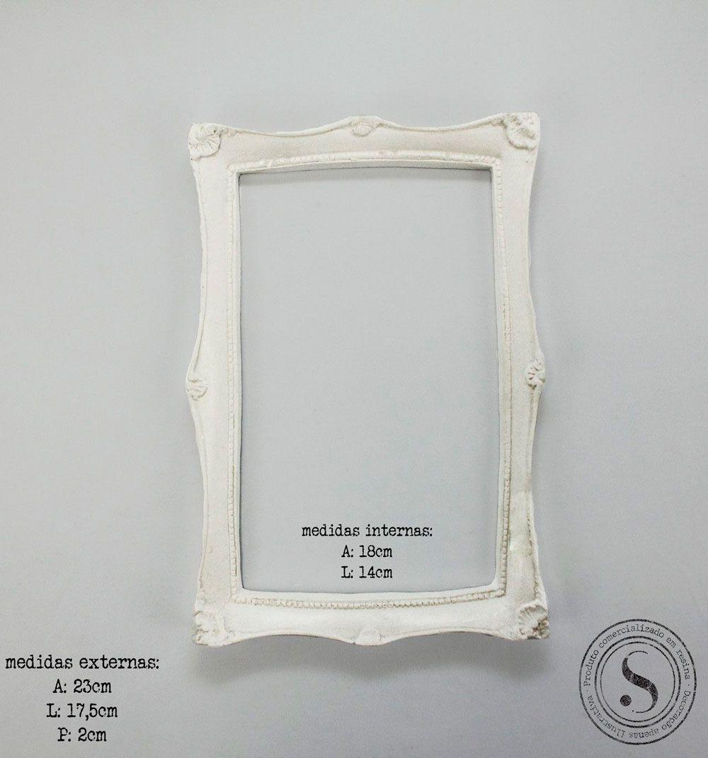 Aplique Resina Moldura Quadrada - MQM001 - Sandra Gotardo