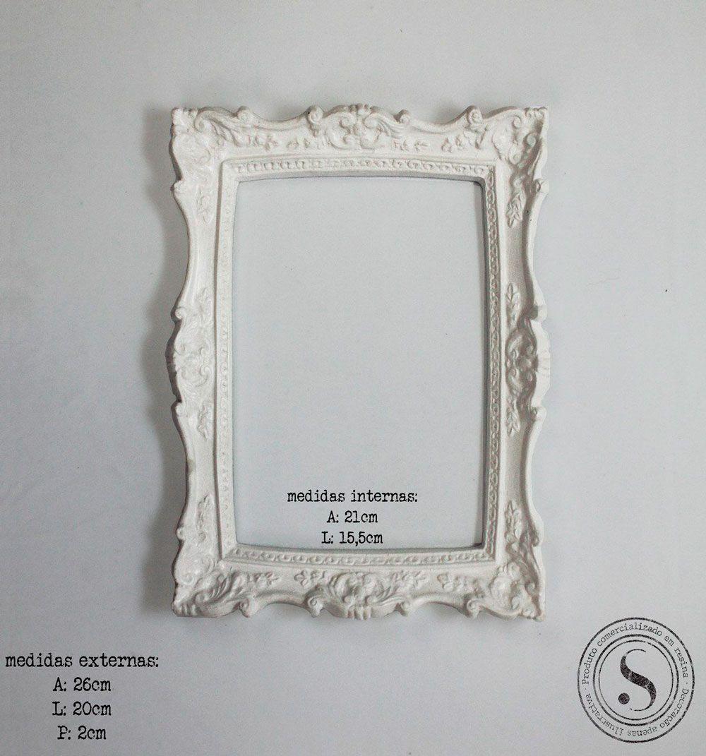 Aplique Resina Moldura Quadrada - MQM002 - Sandra Gotardo