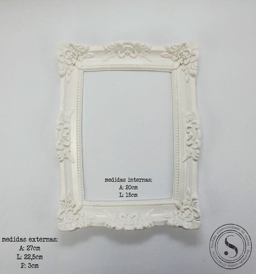 Aplique Resina Moldura Quadrada - MQM003 - Sandra Gotardo