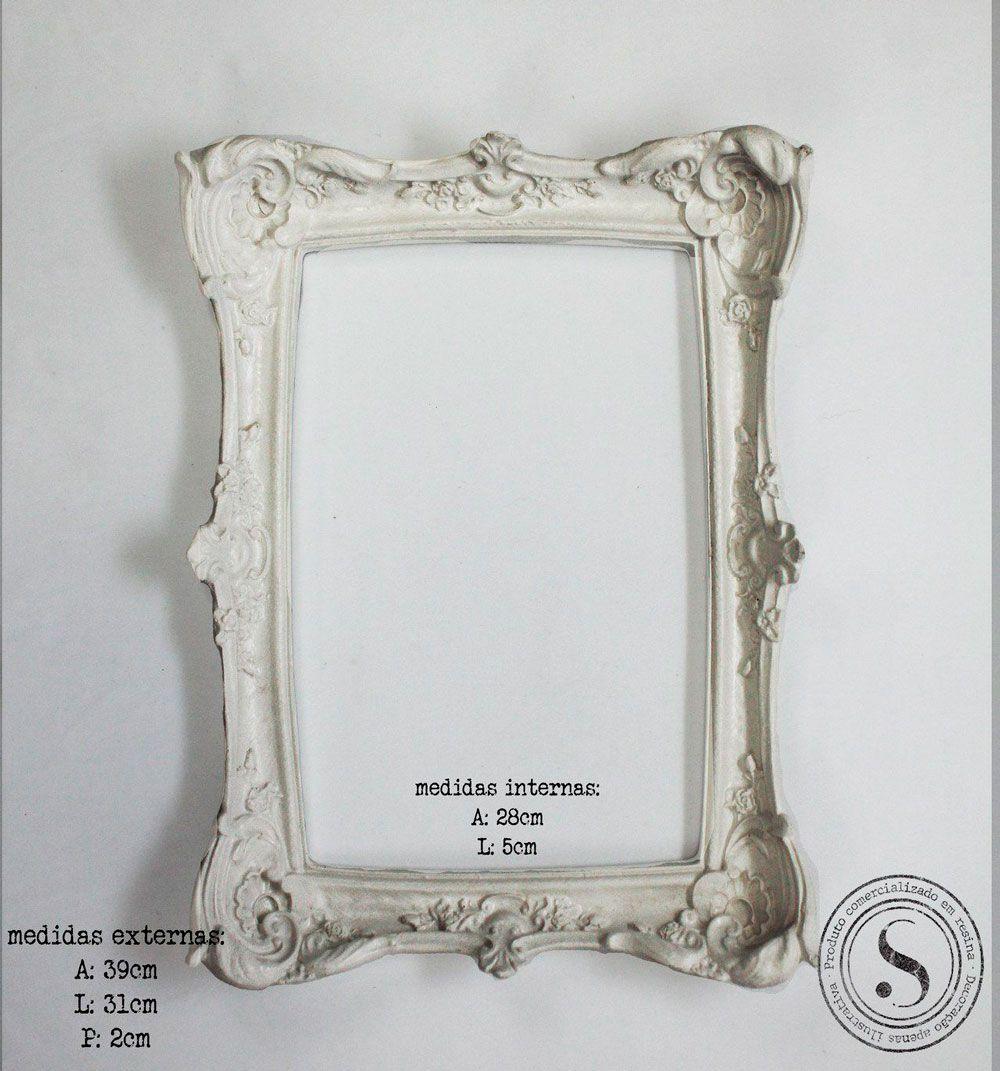 Aplique Resina Moldura Quadrada - MQM 004 - Sandra Gotardo