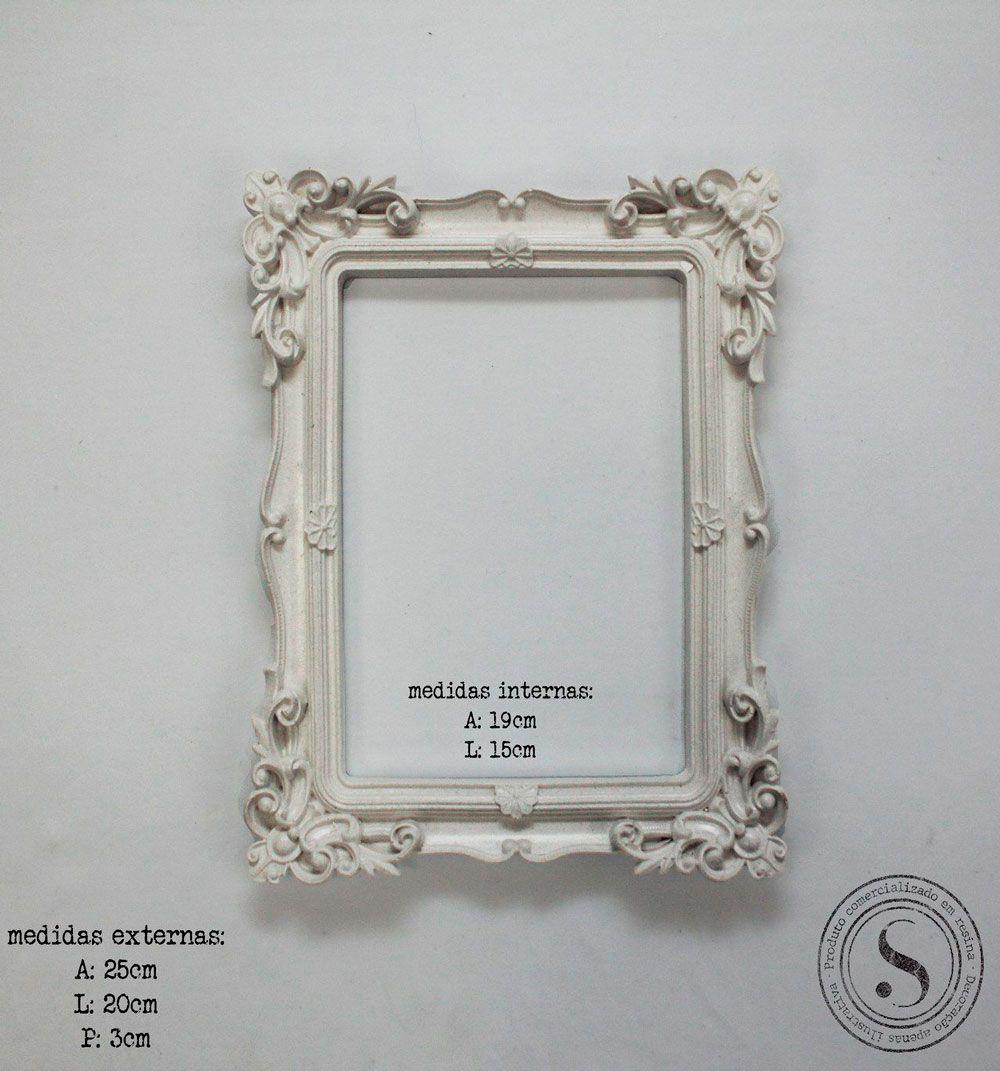 Aplique Resina Moldura Quadrada - MQM 008 - Sandra Gotardo