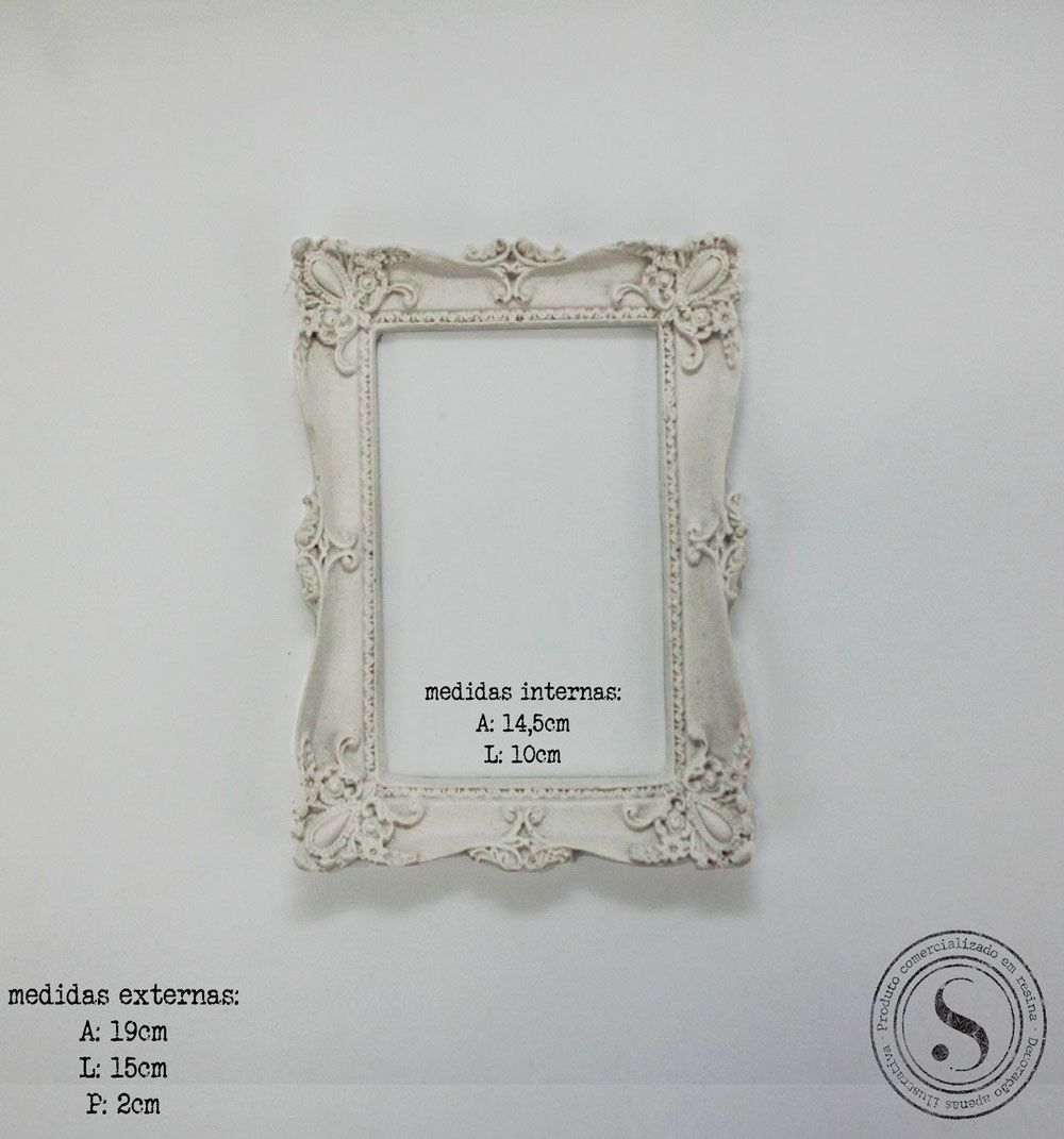 Aplique Resina Moldura Quadrada - MQP 013 - Sandra Gotardo
